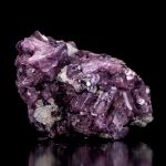 Crystallized Lepidolite Cluster with Mica