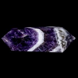 Polished Chevron Dream Amethyst Double Terminated Wand