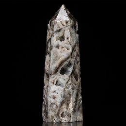 Polished Sphalerite Point with Crystalized Caves – Video Below