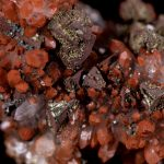 Red Hematite Included Quartz Flower Cluster with Tetrahedrite and Pyrite