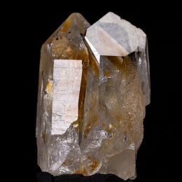 Colombian Silver Light Lemurian Seed Future Time-link Iron Oxide Rainbow Twin Quartz Crystal